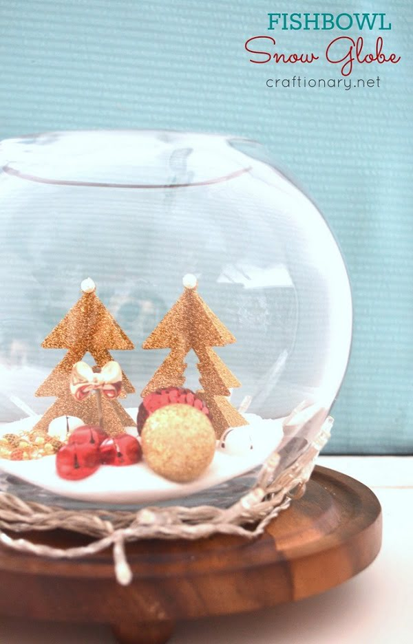 How to make a Christmas Fishbowl  snow globe