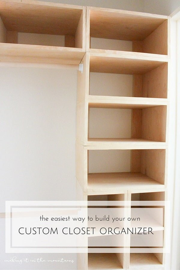 How to make a  closet organizer