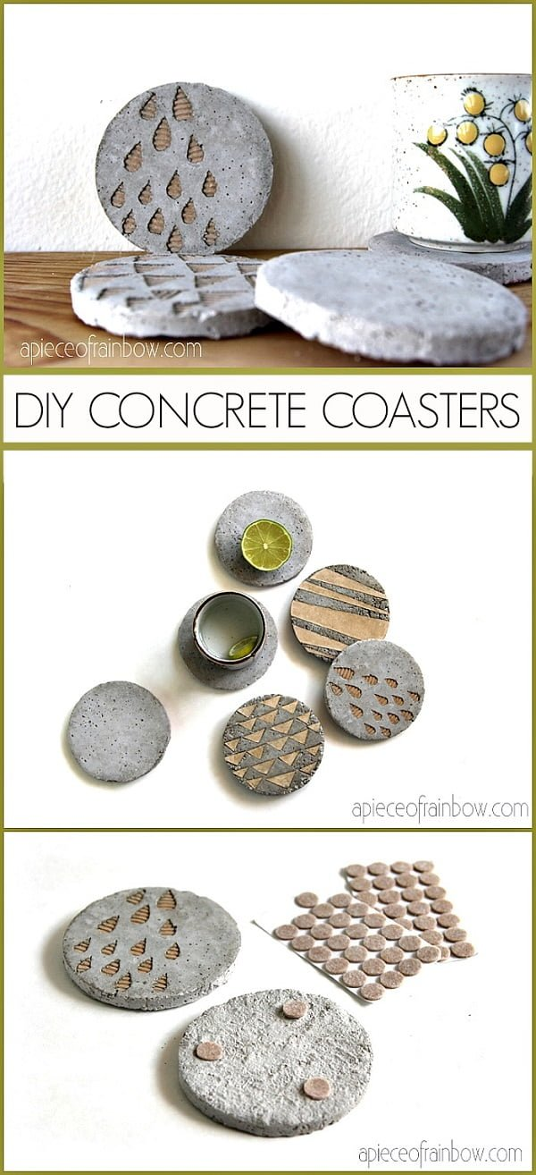 How to make  concrete coasters