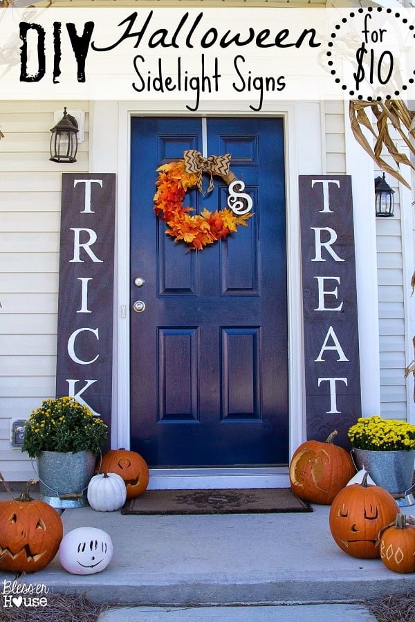 How to make  sidelight signs  outdoor decor