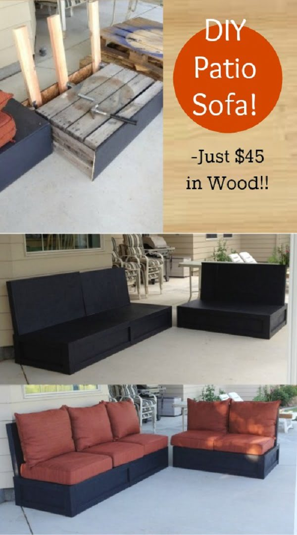 How to build a #DIY patio couch #homedecor