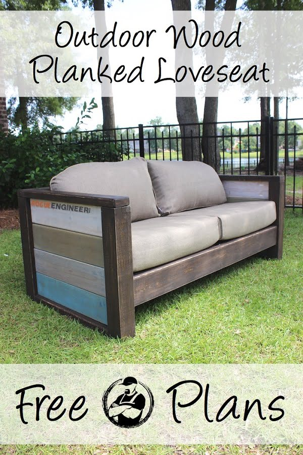 How to build a #DIY wood planked couch #homedecor