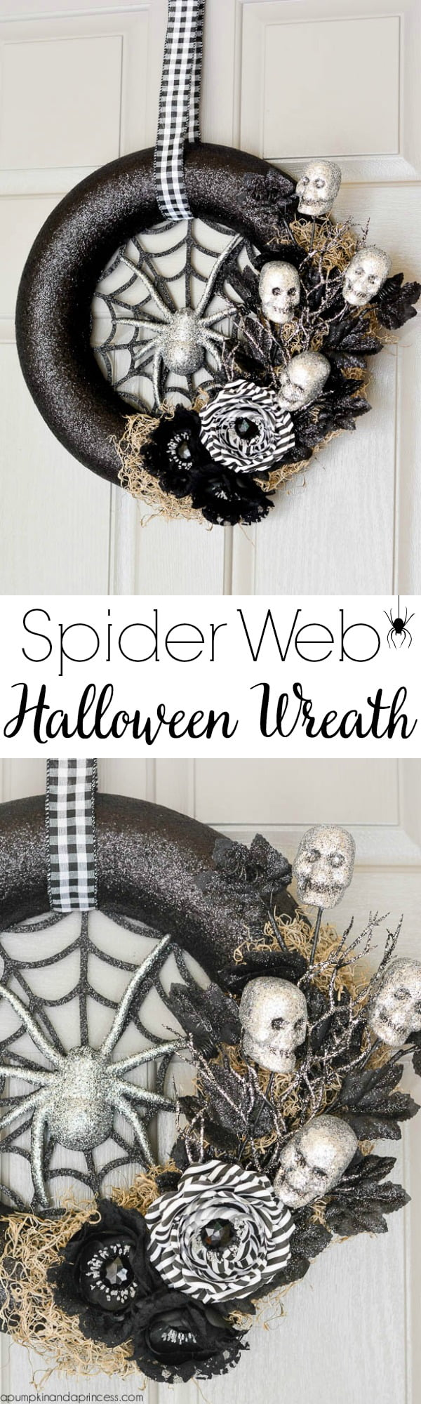 How to make  spider web  wreath