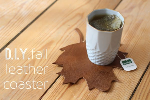 How to make  fall leather coasters