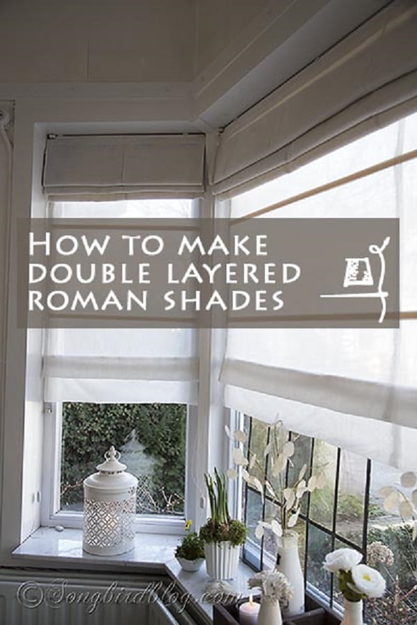 How to make  layered Roman Shades