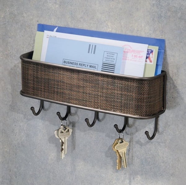 InterDesign mail and key wall organizer