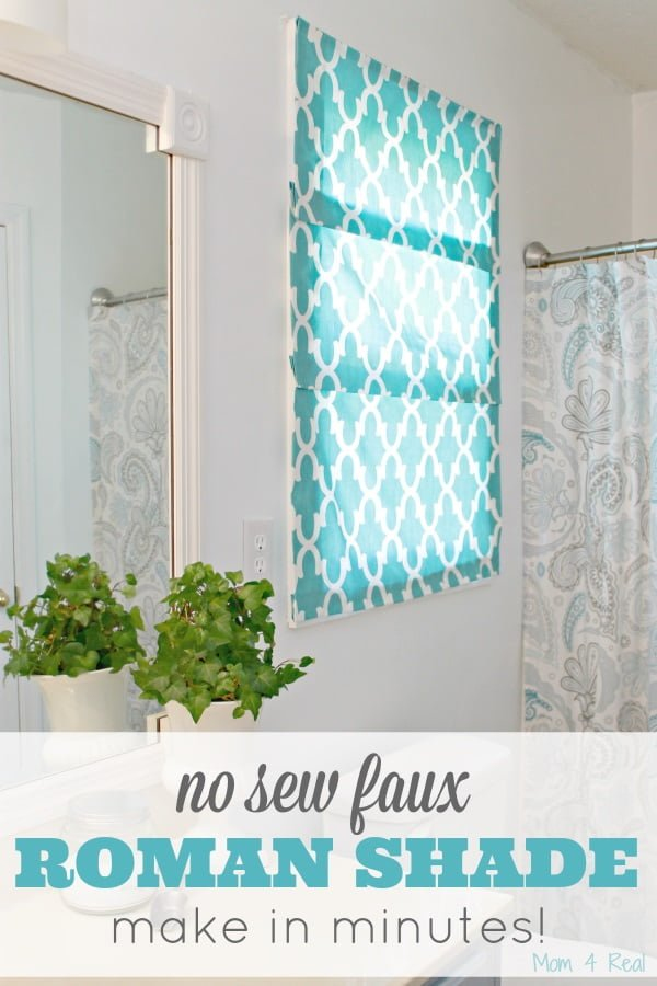 How to make  no-sew faux Roman shades