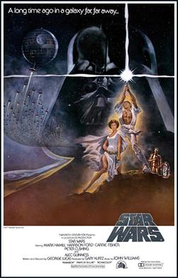Star Wars New Hope poster wall decor