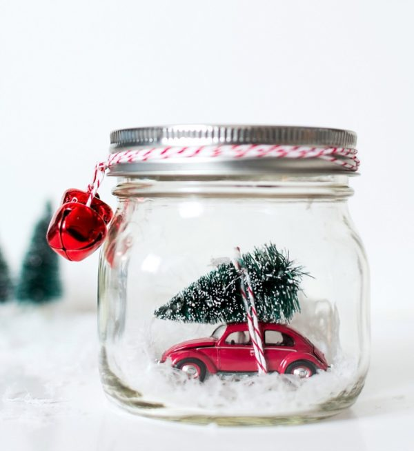 How to make a wintery car  snow globe