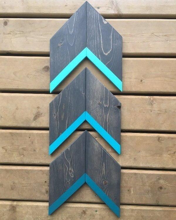 Arrow pallet art idea #homedecor #rustic