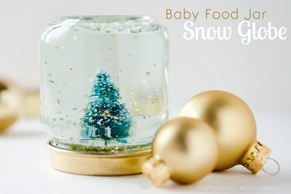 How to make a baby food jar  snow globe