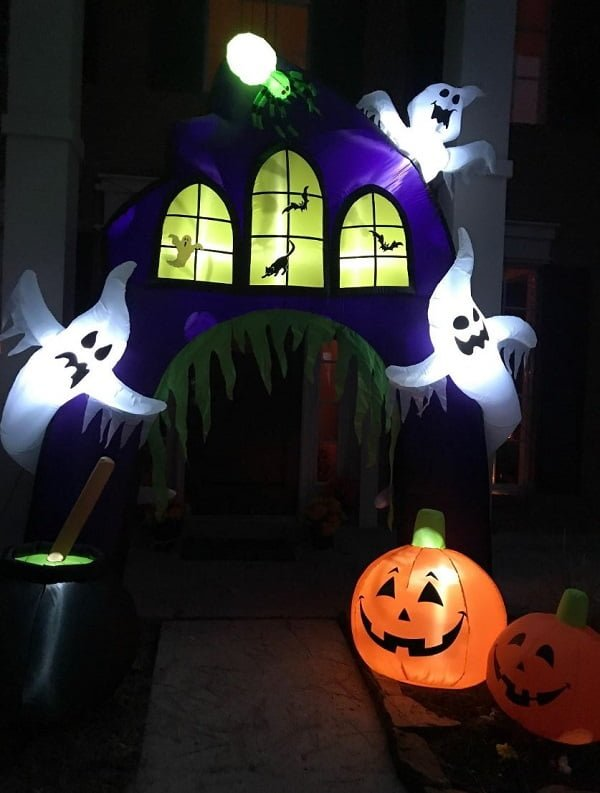 Castle archway Halloween inflatable