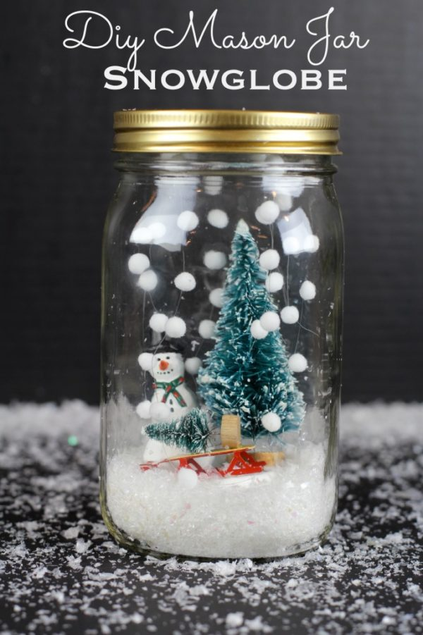How to make a cheerful  snow globe
