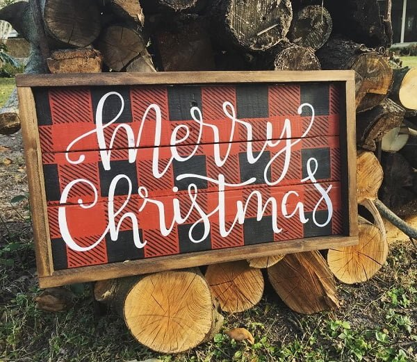 Christmas pallet art ideas