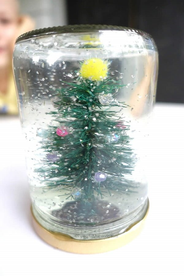 How to make a Christmas tree  snow globe