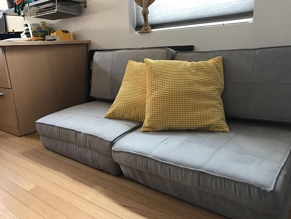 Compact adjustable floor sofa