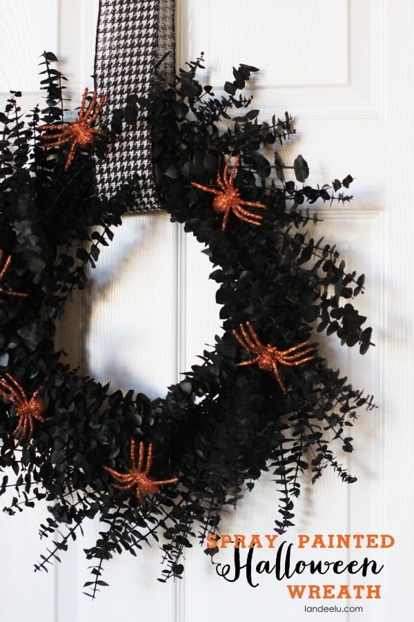 How to make a  spray painted  wreath