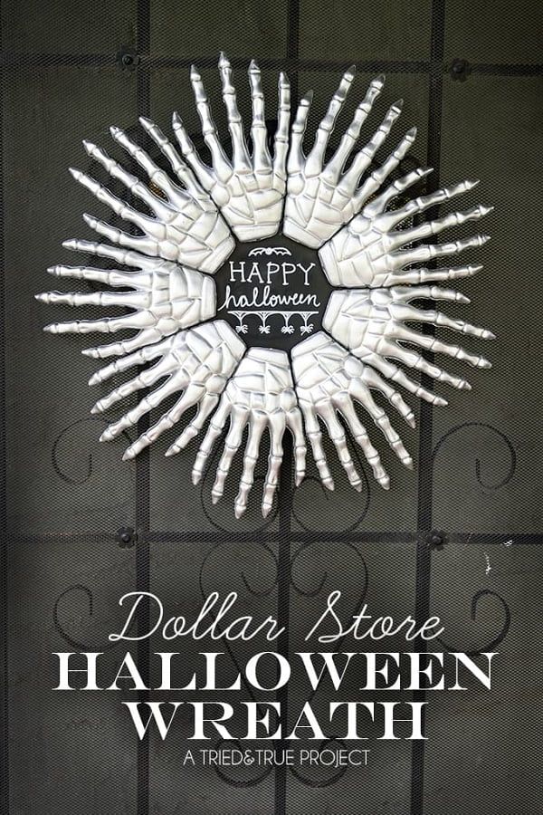How to make a  skeleton hands  wreath