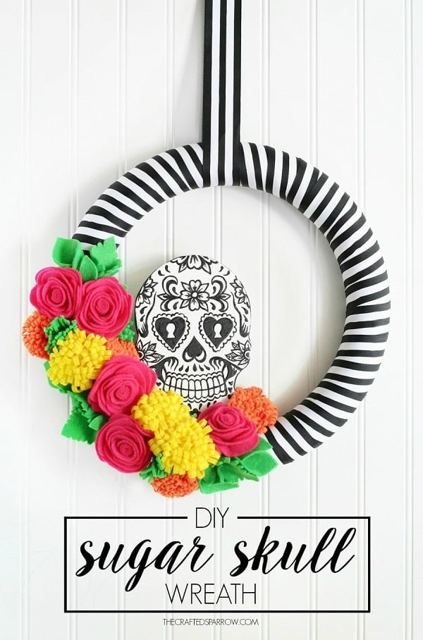 How to make a  sugar skull  wreath