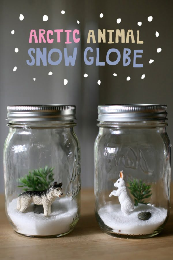 How to make an Arctic Animals  snow globe