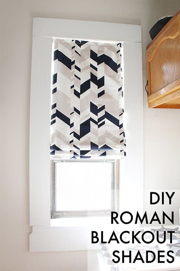 How to make  blackout Roman shades