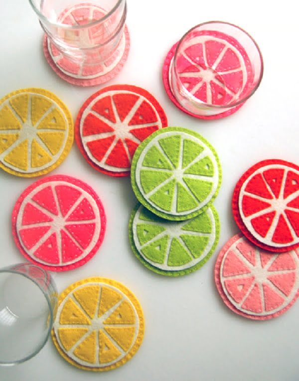 How to make  citrus coasters