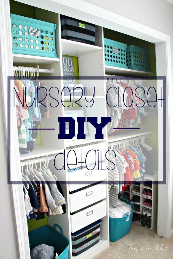 #DIY closet makeover idea #homedecor #organizing