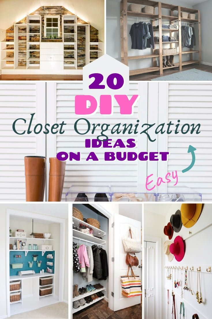 Organize your closet once and for all. Here are very easy DIY closet organization ideas to follow! #DIY #organization