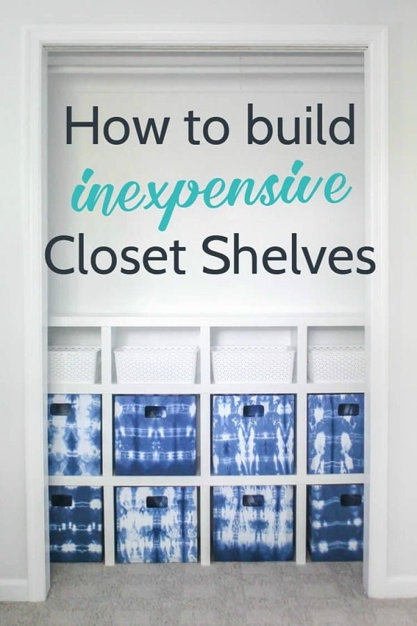 How to make  closet shelves
