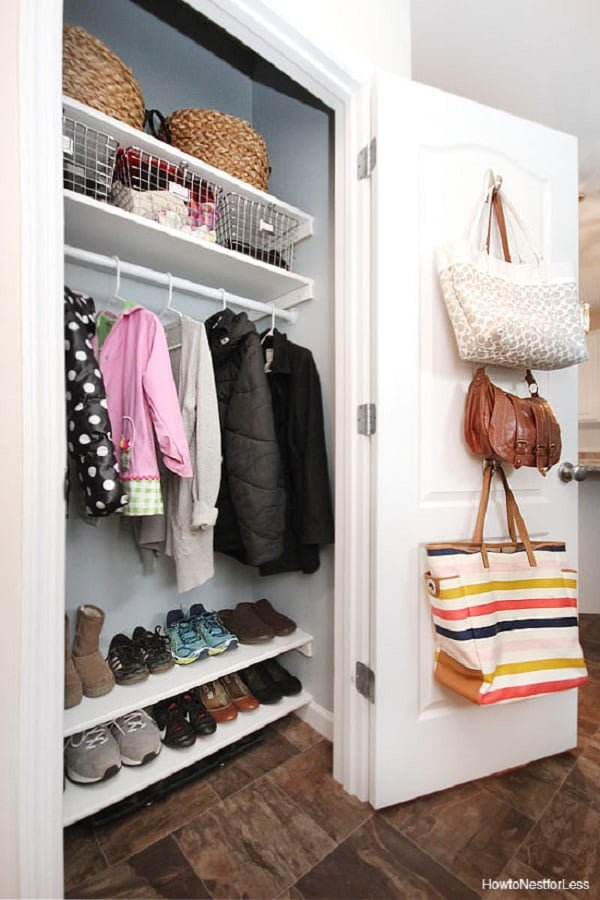 How to make a  coat closet makeover