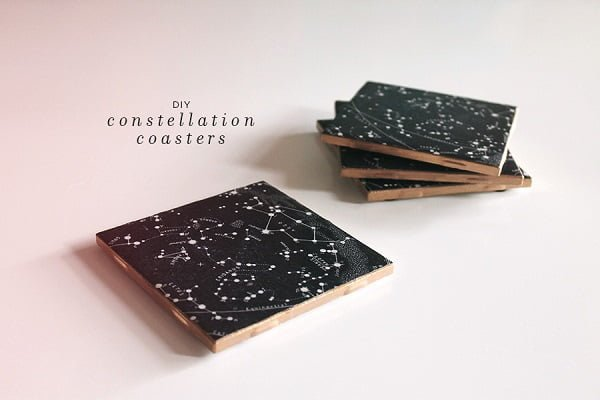 How to make  constellation coasters