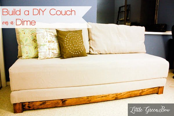 How to build a #DIY couch and day bed #homedecor