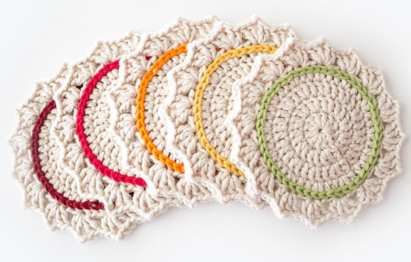 How to make  crochet coasters