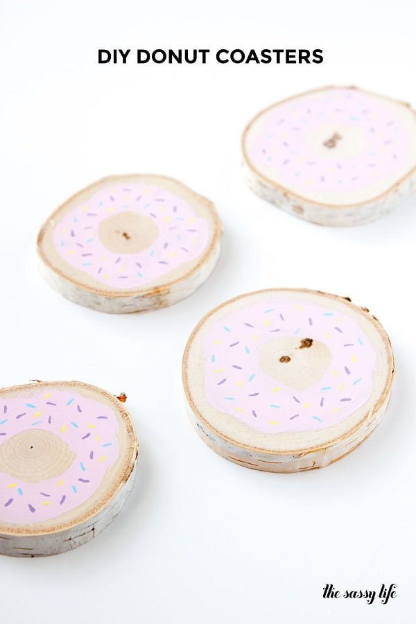 How to make  donut coasters