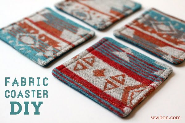 How to make  fabric coasters
