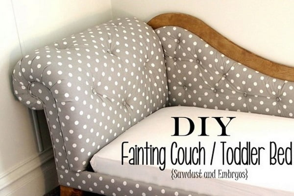 How to build #DIY fainting couch #homedecor