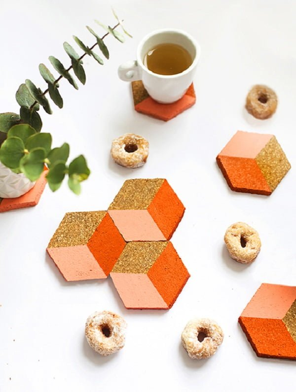 How to make  geometric coasters