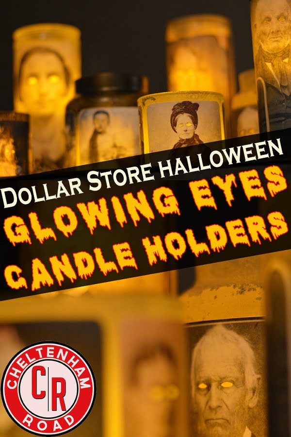 How to make #DIY creepy Halloween candle holders #homedecor