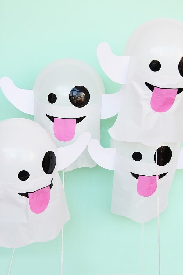 How to make #DIY emoji ghost balloons #homedecor