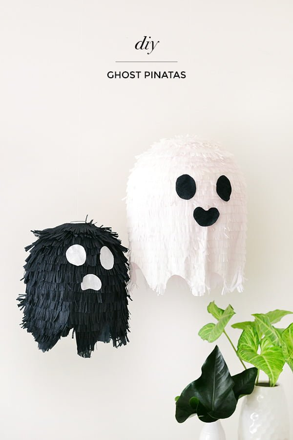 How to make #DIY Halloween balloon ghosts #homedecor