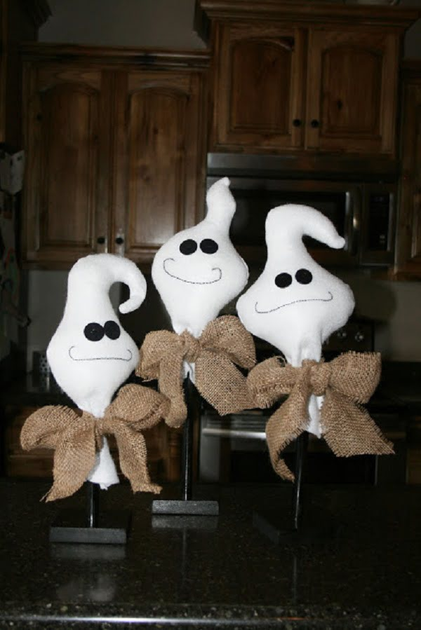 How to make  Halloween goofy ghosts