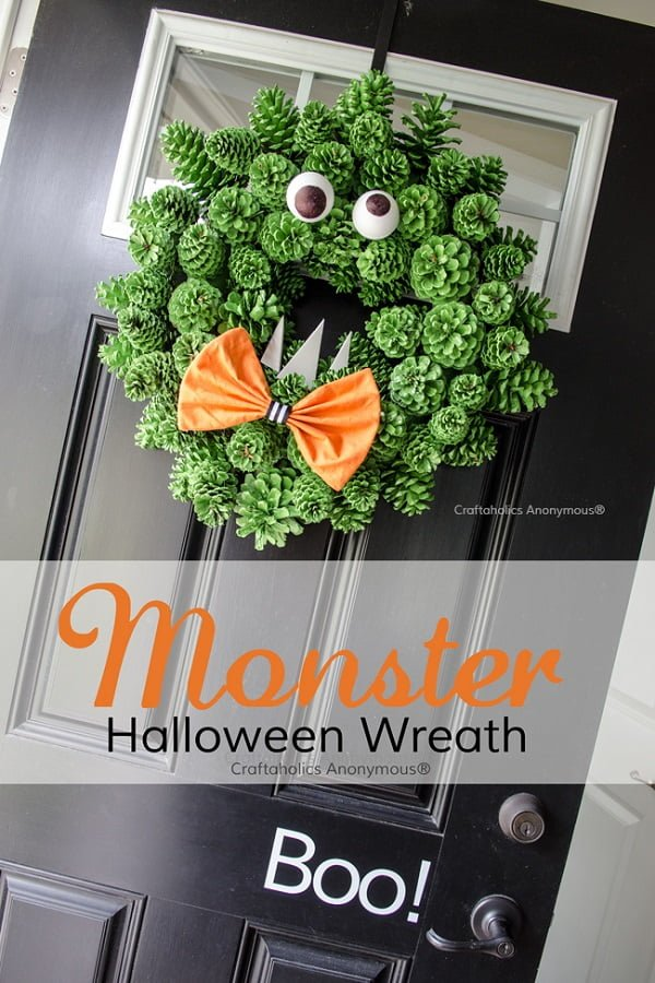 How to make a  pinecone monster  wreaths