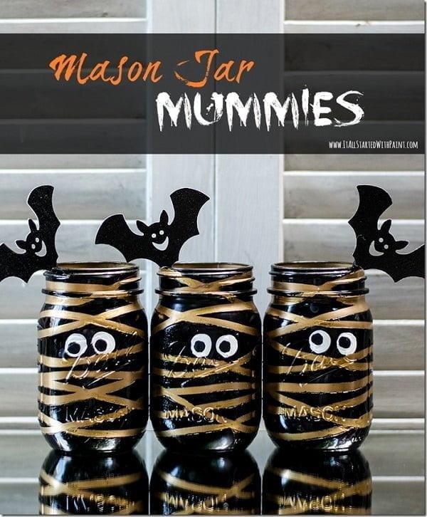 How to make  Halloween mummie jars