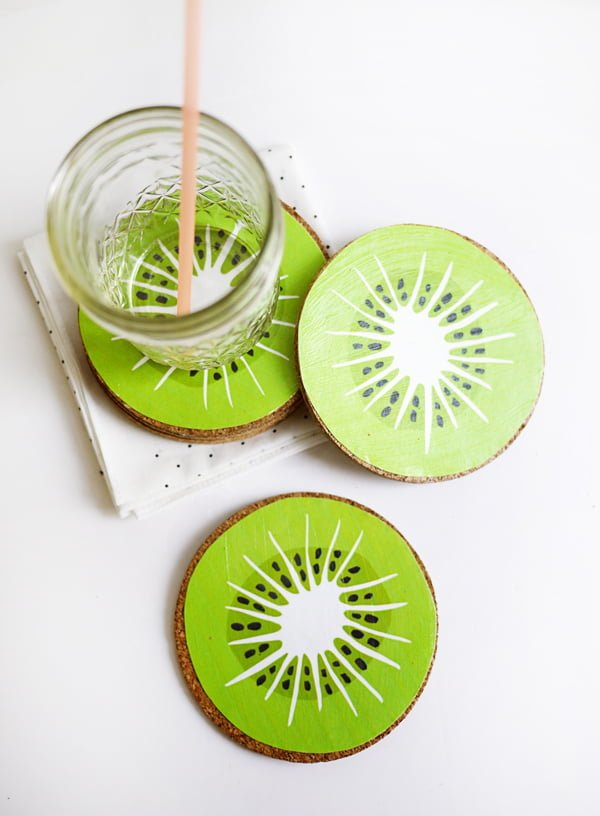 How to make  printable kiwi coasters