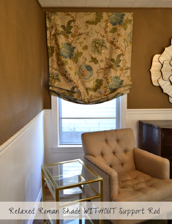 How to make  lined relaxed Roman shades