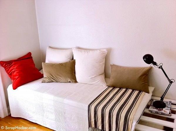 How to build a #DIY lounger sofa #homedecor