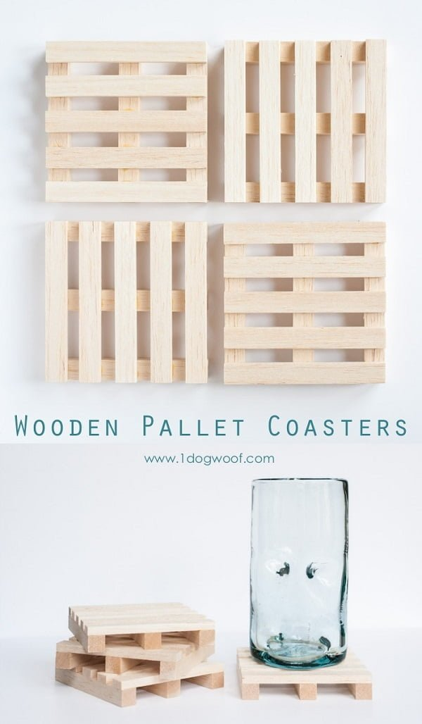 How to make  mini pallet coasters