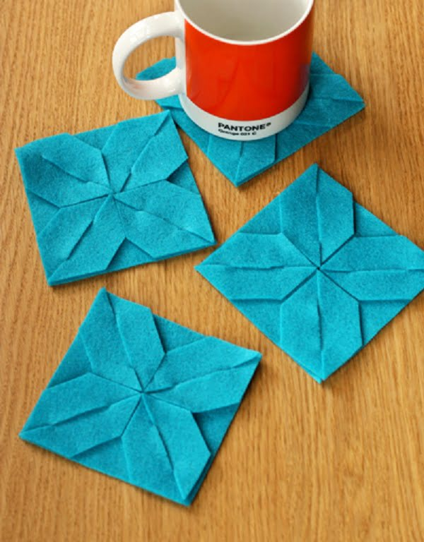 How to make  modular felt coasters