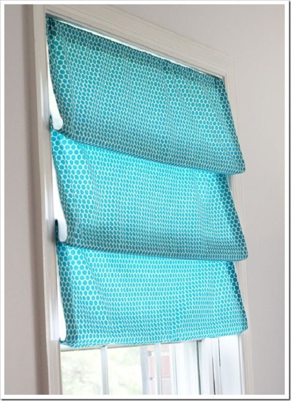 How to make  no-sew Roman shades