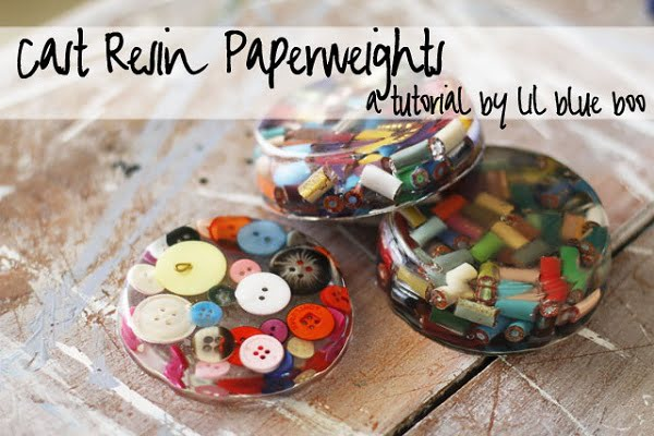 How to make  resin paperweight coasters